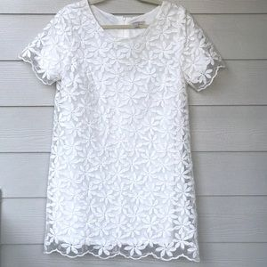 Blu Pepper Vintage White Floral Lace Dress